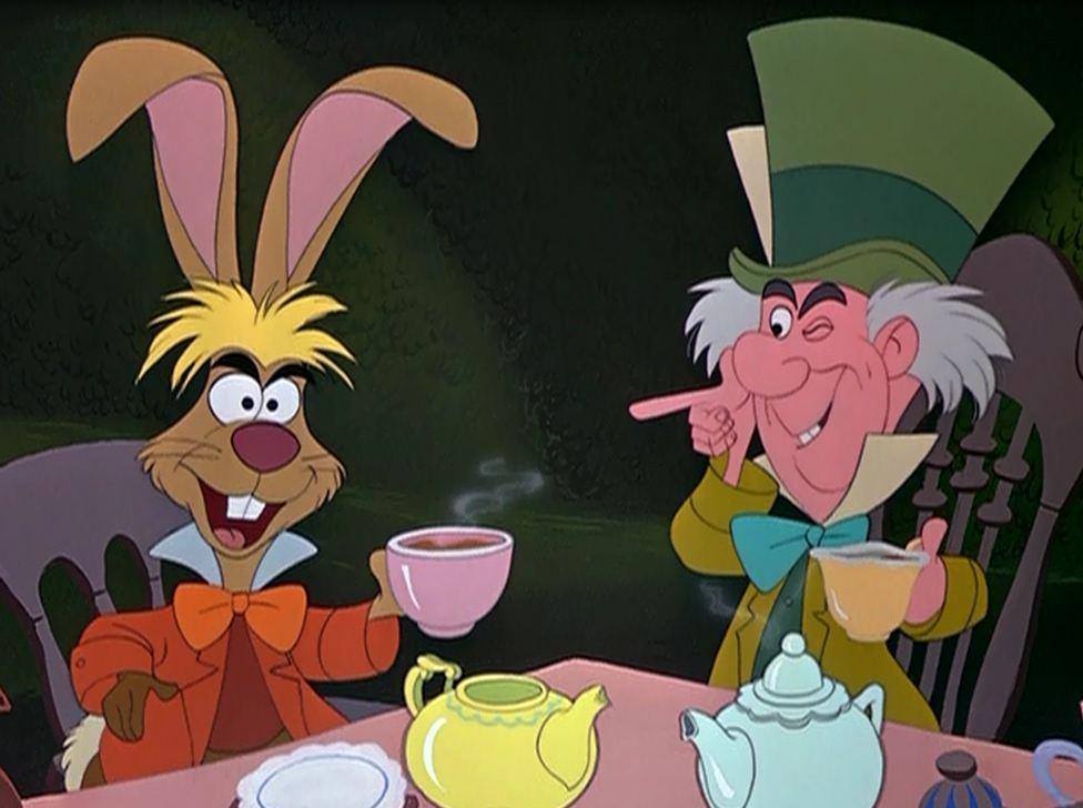 alice in wonderland mad hatter tea party cartoon images